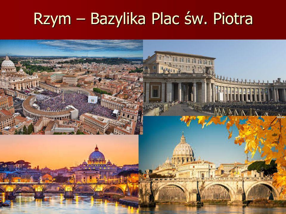 Rzym – Bazylika Plac św. Piotra