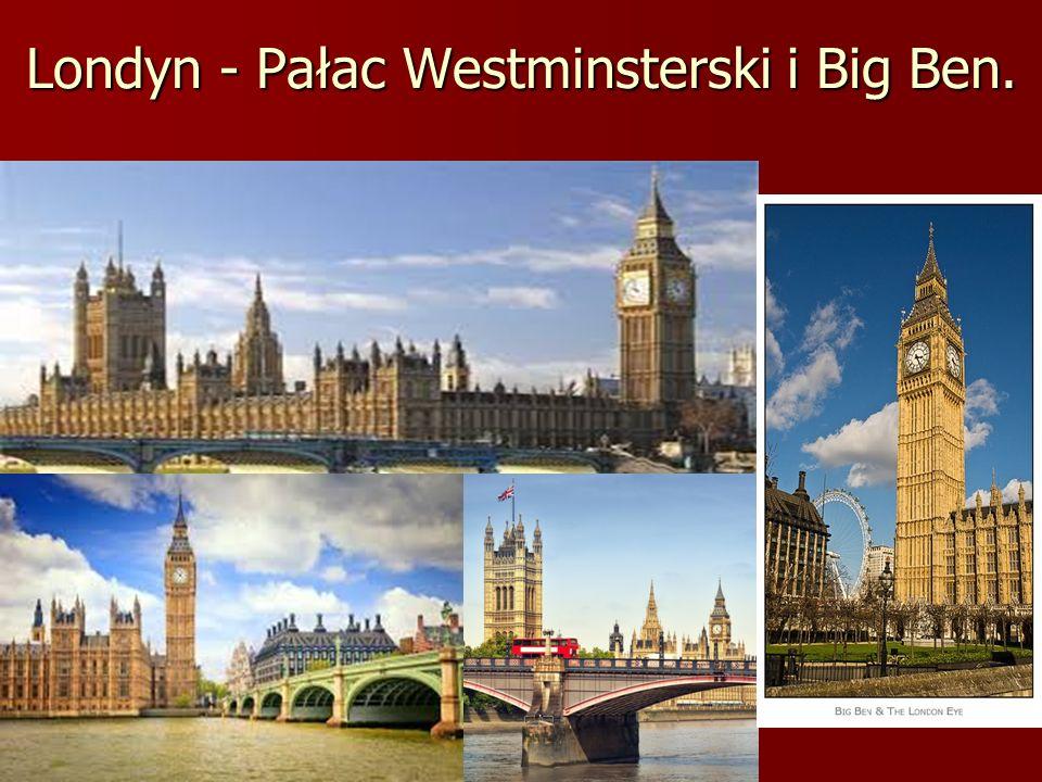 Londyn - Pałac Westminsterski i Big Ben.