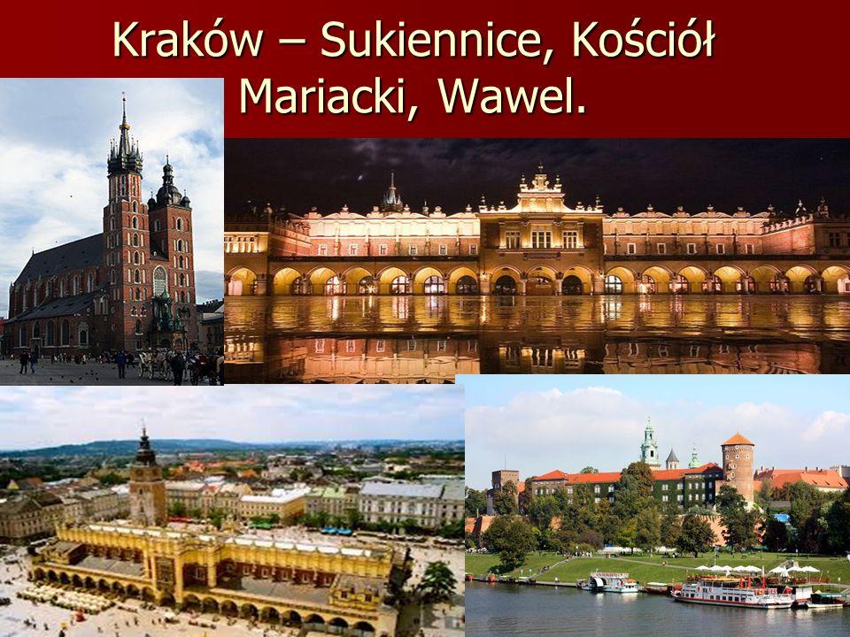 Kraków – Sukiennice, Kościół Mariacki, Wawel.