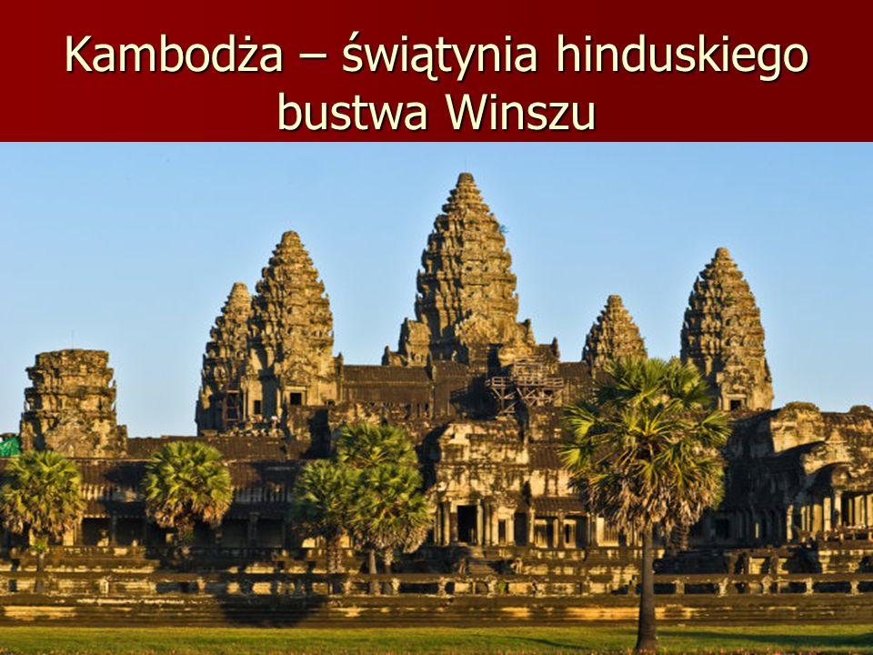 Kambodża – świątynia hinduskiego bustwa Winszu