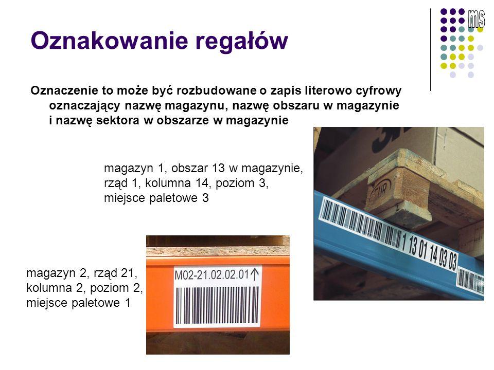 Oznaczanie regałów i półek Do oznaczenia półek i regałów magazynowych polecane są białe, matowe etykiety, które zapewniają duży kontrast przy odczycie kodów kreskowych.