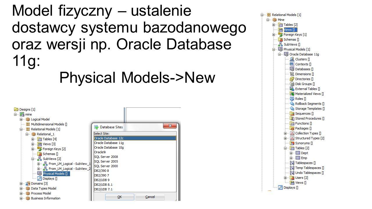 View -> DDL File Editor CREATE TABLE Dept (Deptno INTEGER NOT NULL, Dname VARCHAR2 (10) NOT NULL, Loc VARCHAR2 (30) ) ; ALTER TABLE Dept ADD CONSTRAINT Dept_PK PRIMARY KEY( Deptno); CREATE TABLE Emp (Empno INTEGER NOT NULL, Ename VARCHAR2 (50) NOT NULL, Sal NUMBER (10,2), Deptno INTEGER ) ; ALTER TABLE Emp ADD CONSTRAINT Emp_PK PRIMARY KEY(Empno); ALTER TABLE Emp ADD CONSTRAINT Emp_Dept_FK FOREIGN KEY ( Deptno ) REFERENCES Dept ( Deptno ) ;