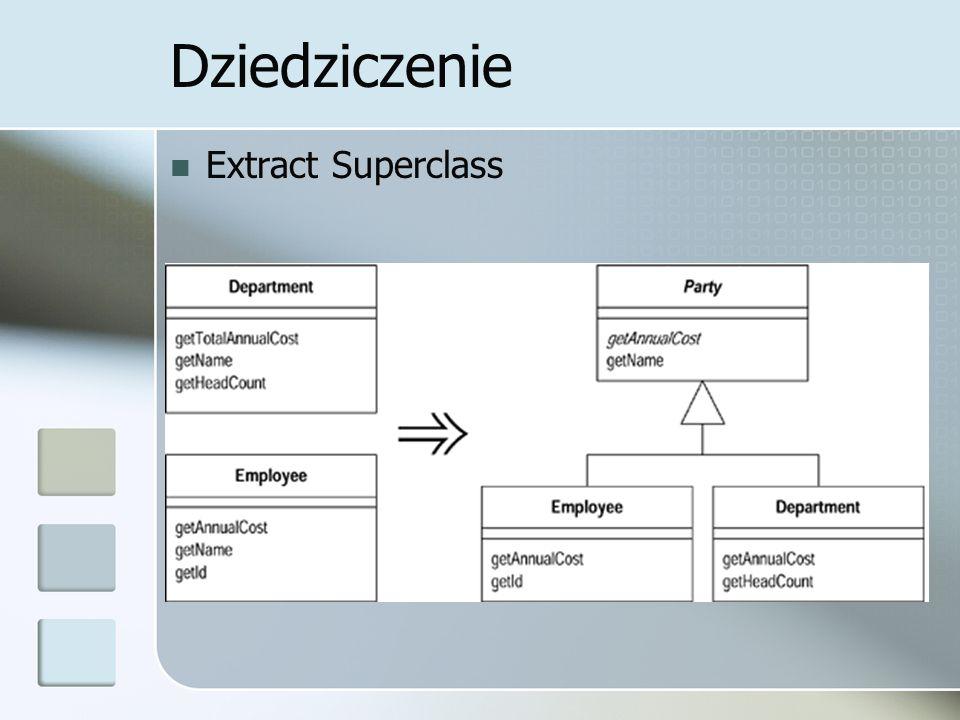 Dziedziczenie Extract Superclass