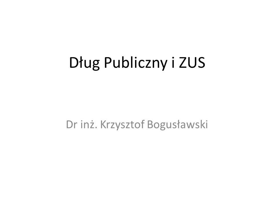 Dług Publiczny i ZUS Dr inż. Krzysztof Bogusławski