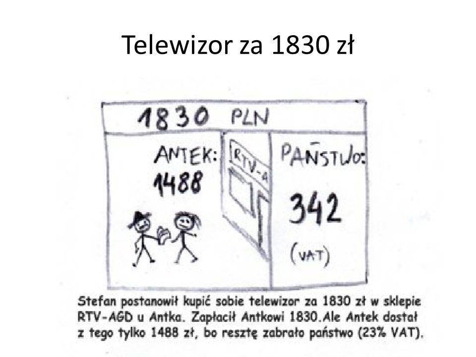 Telewizor za 1830 zł