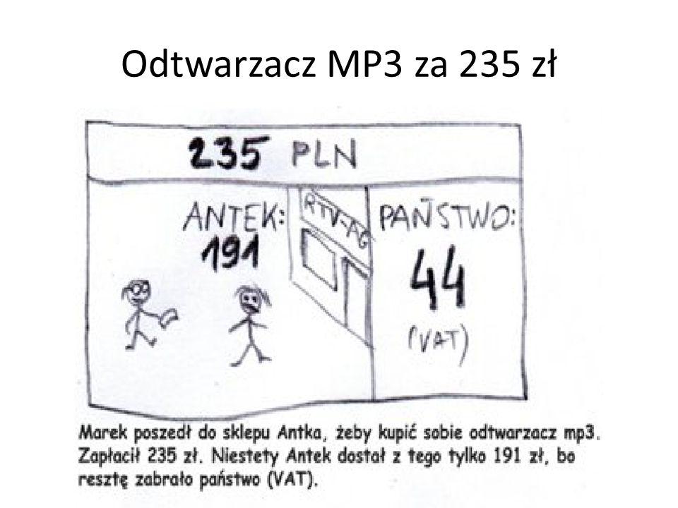 Odtwarzacz MP3 za 235 zł