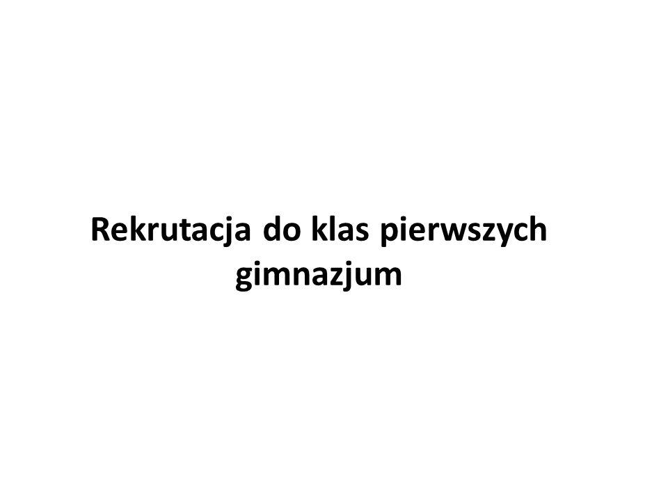 Rekrutacja do klas pierwszych gimnazjum