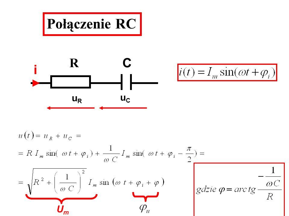 Połączenie RC uRuR uCuC UmUm R C i