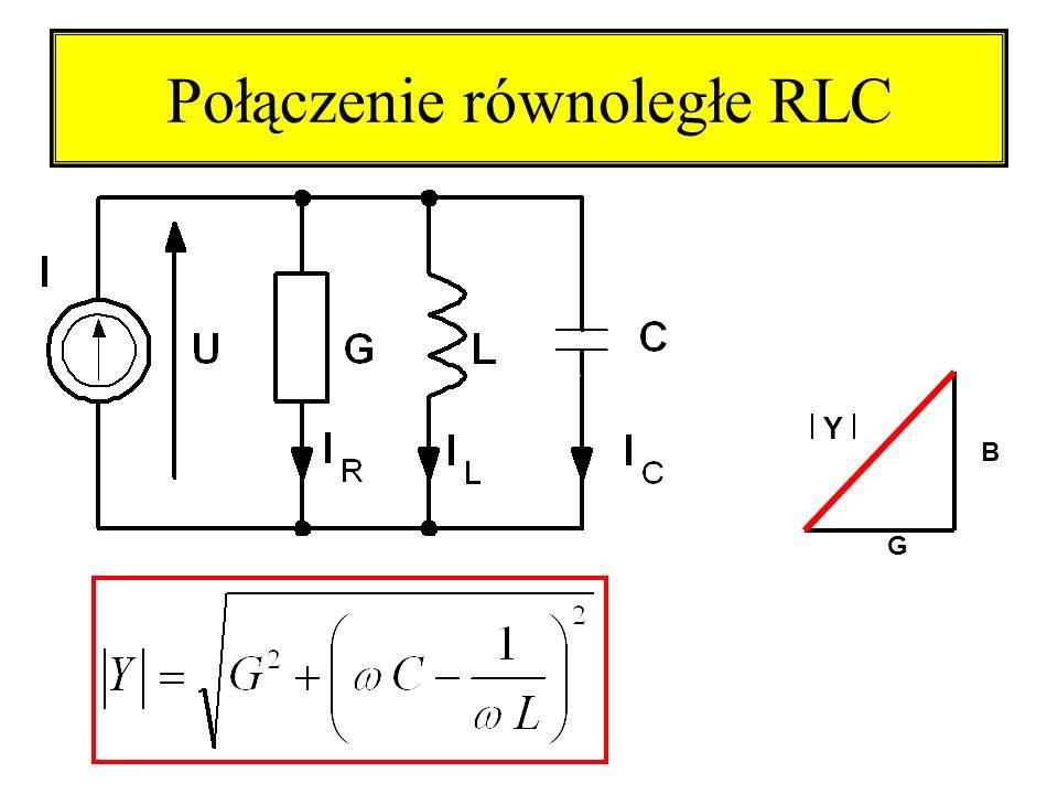 Połączenie równoległe RLC G B Y