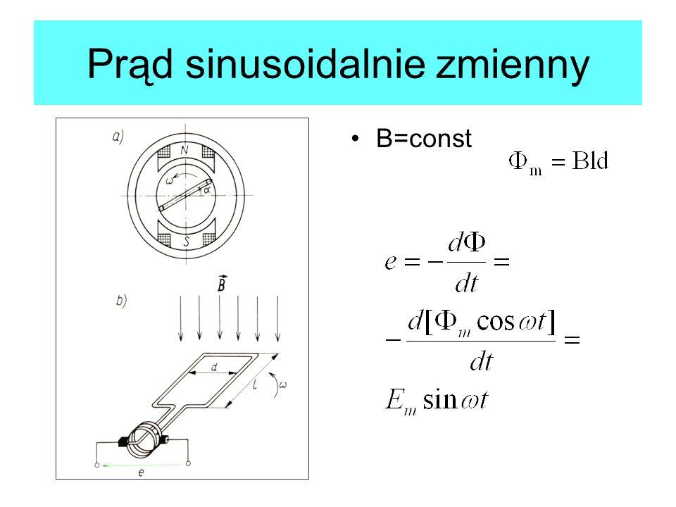 Prąd sinusoidalnie zmienny B=const