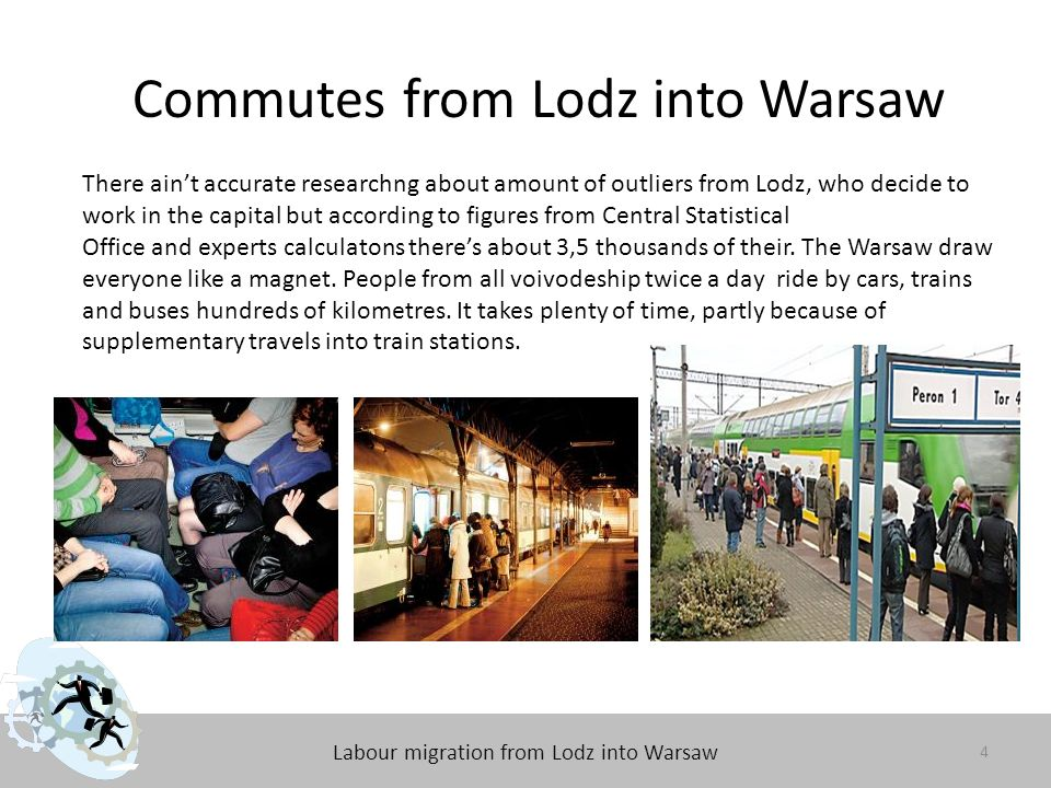 Labour migration from Lodz into Warsaw Questionnaire The main aim of this questionnaire is toinvestigate, how much the labour migration affect residents of Lodz.