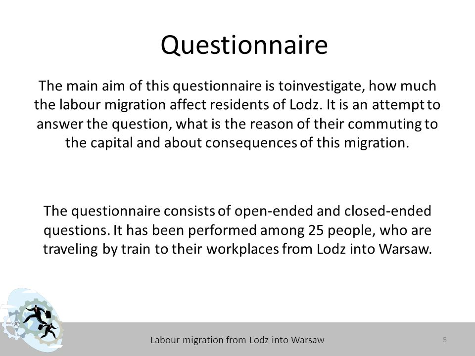 Labour migration from Lodz into Warsaw Results of the questionnaire 1.How long are you commuting to the Warsaw.