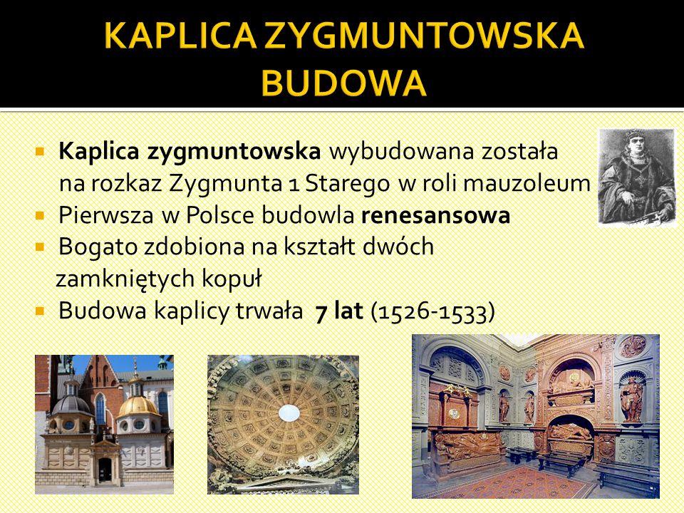  wybucha pożar gmachu na Wawelu – 1499 r.,  odbudowę rozpoczyna Franciszek Florentczyk - 1504 r.,  po śmierci pierwszego z architektów nadzór nad b