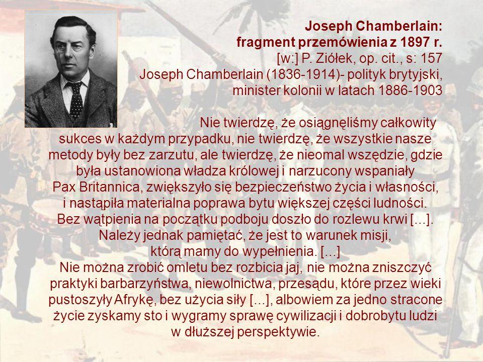 Joseph Chamberlain: fragment przemówienia z 1897 r.
