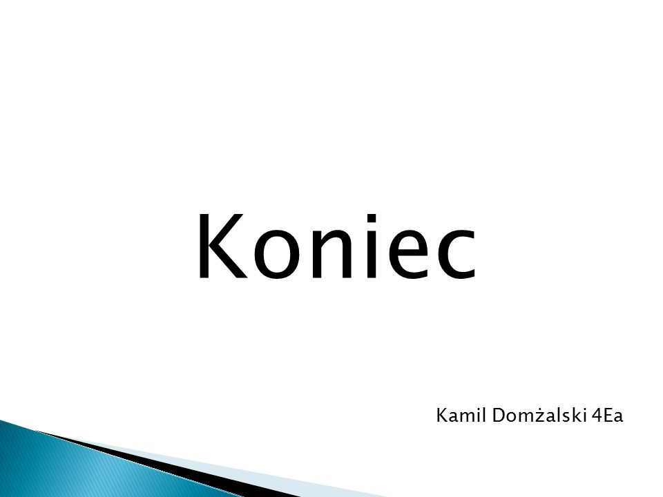 Koniec Kamil Domżalski 4Ea