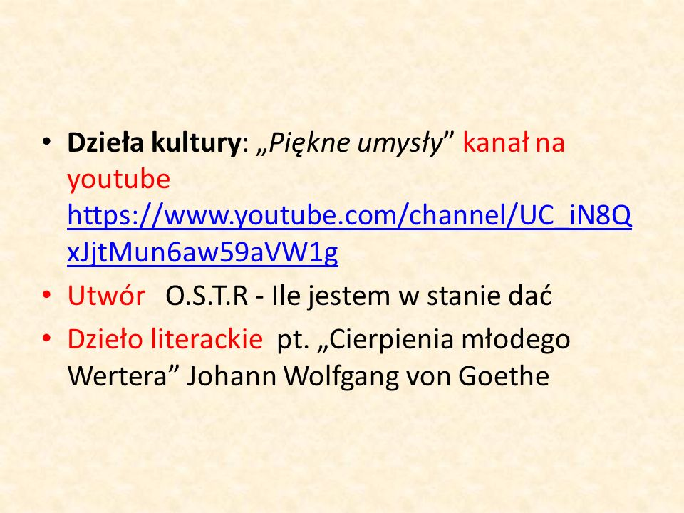 "Dzieła kultury: ""Piękne umysły"" kanał na youtube https://www.youtube.com/channel/UC_iN8Q xJjtMun6aw59aVW1g https://www.youtube.com/channel/UC_iN8Q xJj"