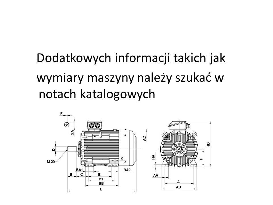 Dodatkowych informacji takich jak wymiary maszyny należy szukać w notach katalogowych