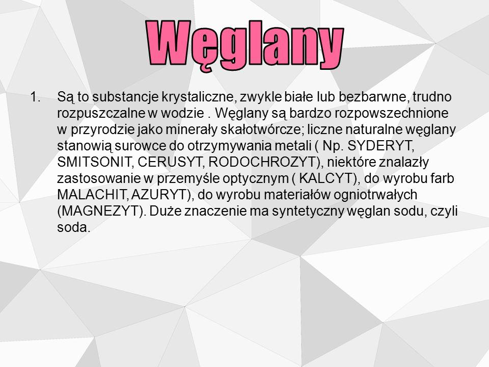 Węglan wapnia CaCO3 · budownictwo · produkcja papieru, gumy (jako wypełniacz), · past do zębów, cementu, wapna palonego, · farb (pigment) i kredy do pisania.