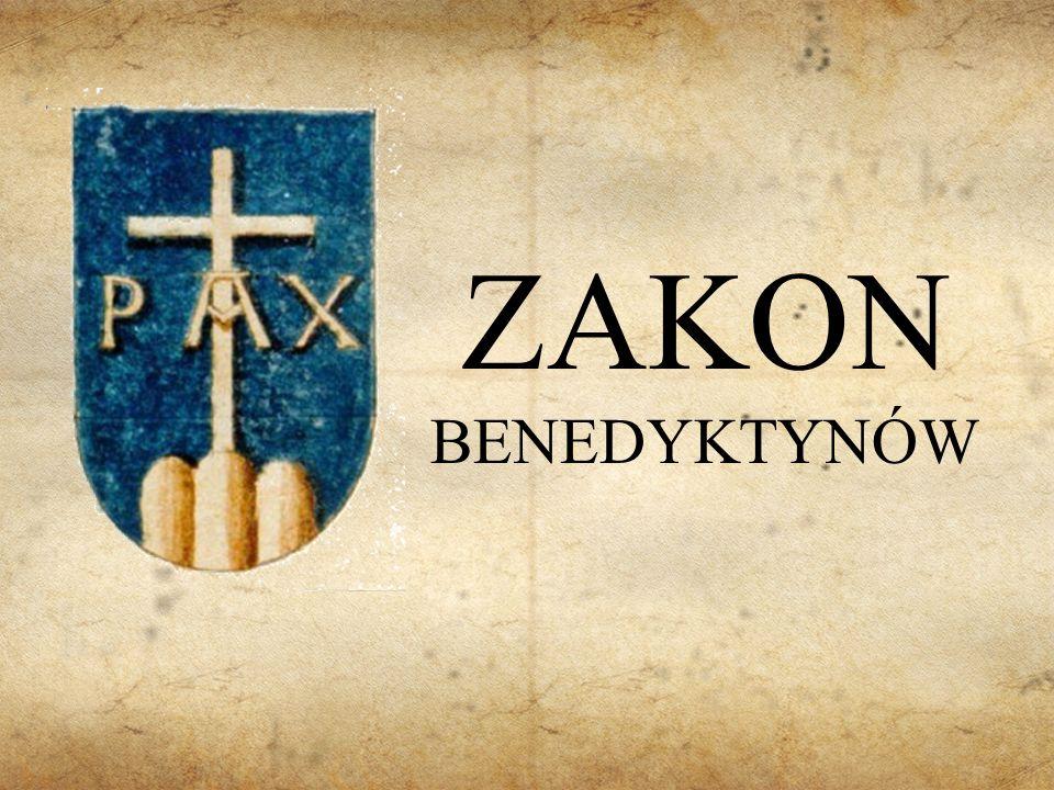 Założyciel Benedykt z Nursji - mnich i opat, według tradycji autor reguły benedyktyńskiej.