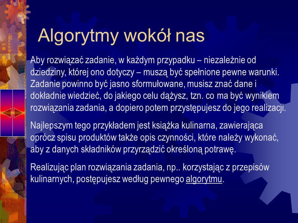 Czy wszystkie działania są algorytmiczne.