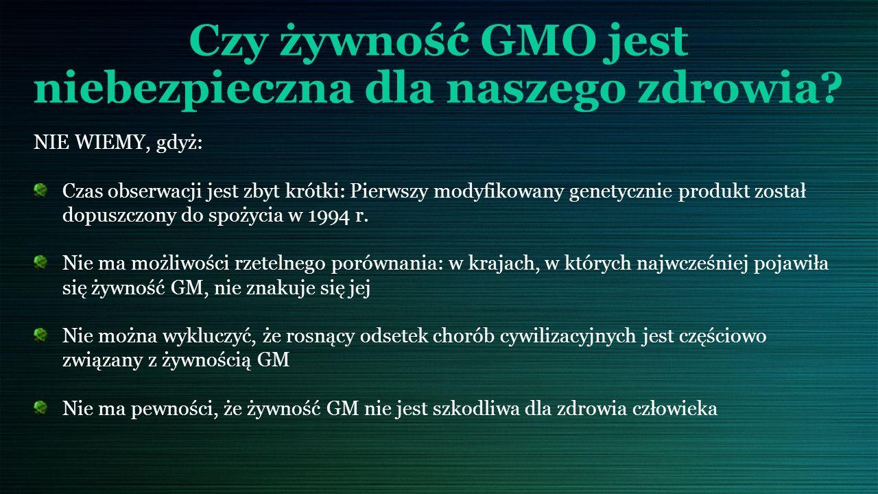 Czy żywność GMO jest niebezpieczna dla naszego zdrowia.