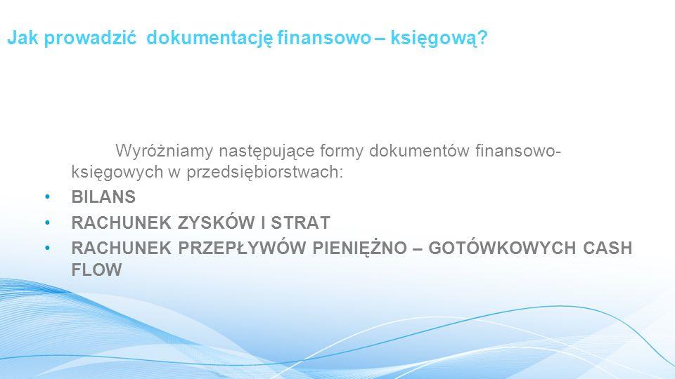 Jak prowadzić dokumentację finansowo – księgową.