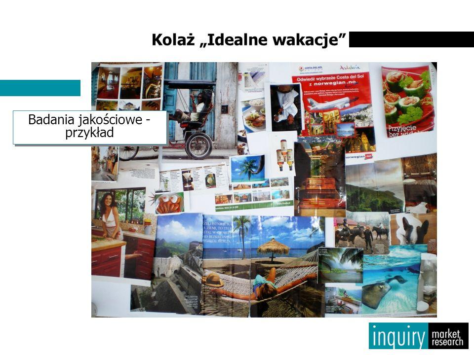 """Kolaż """"Idealne wakacje"""" Badania jakościowe - przykład"""