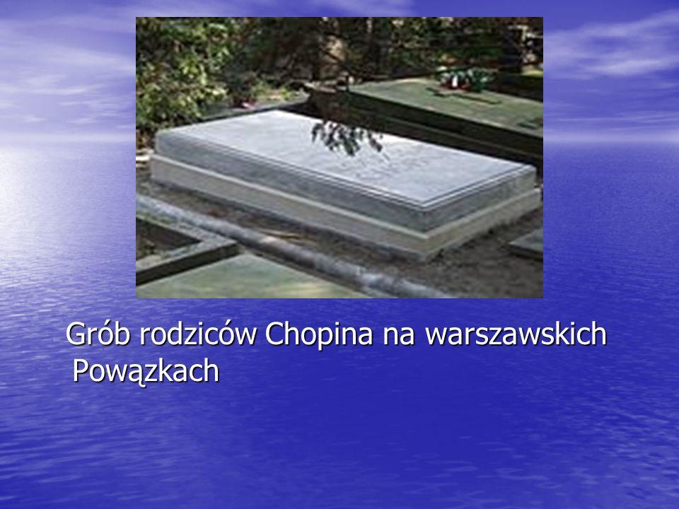 Grób rodziców Chopina na warszawskich Powązkach Grób rodziców Chopina na warszawskich Powązkach