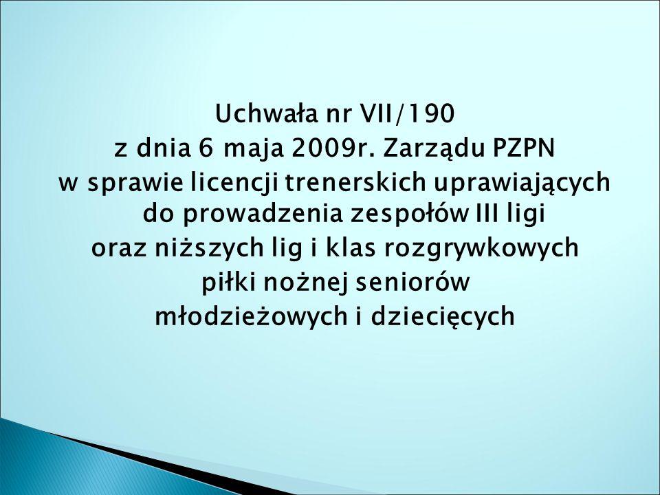 Uchwała nr VII/190 z dnia 6 maja 2009r.