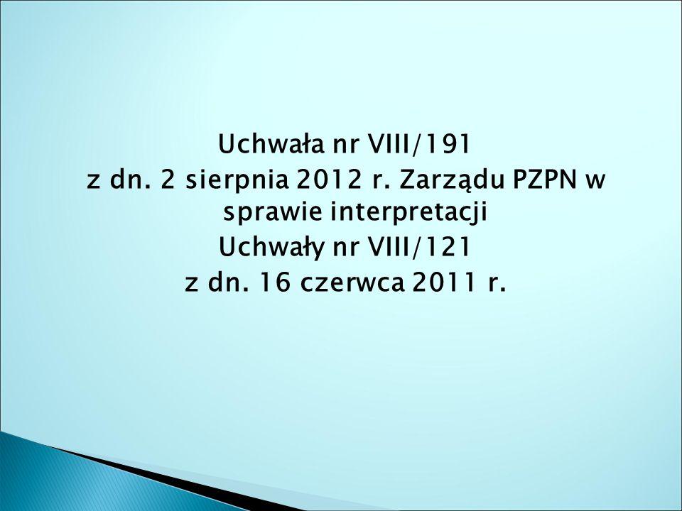 Uchwała nr VIII/191 z dn. 2 sierpnia 2012 r.
