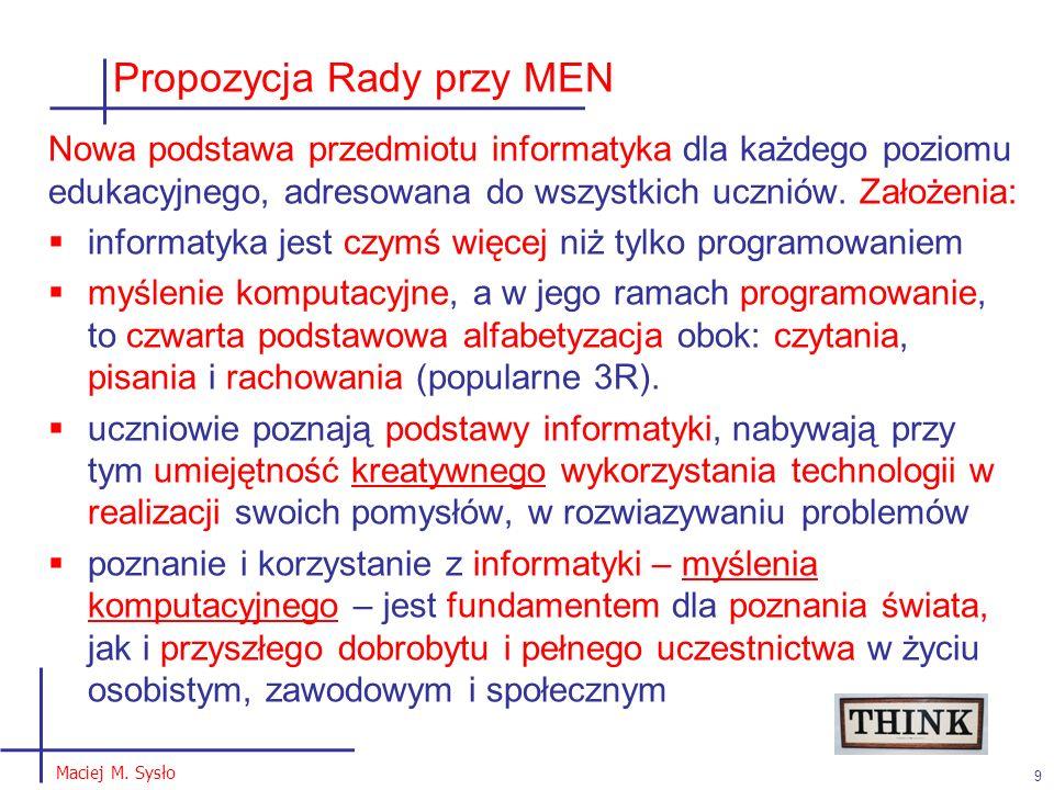 Propozycja Rady przy MEN 9 Maciej M.