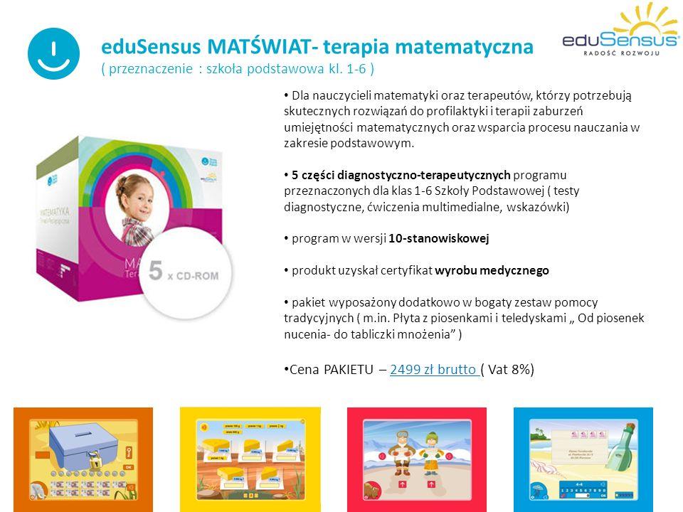 eduSensus MATŚWIAT- terapia matematyczna ( przeznaczenie : szkoła podstawowa kl.