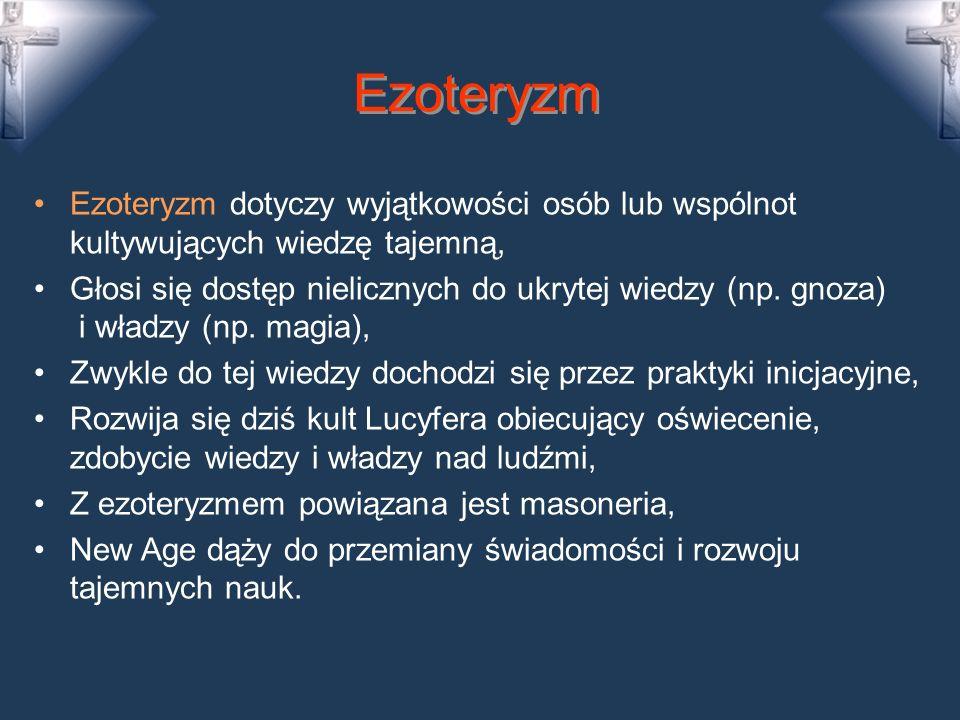 Fetyszyzm: amulety, talizmany Fetyszyzm upatruje boską siłę w przedmiotach, czci świat przedmiotowy, materialny.