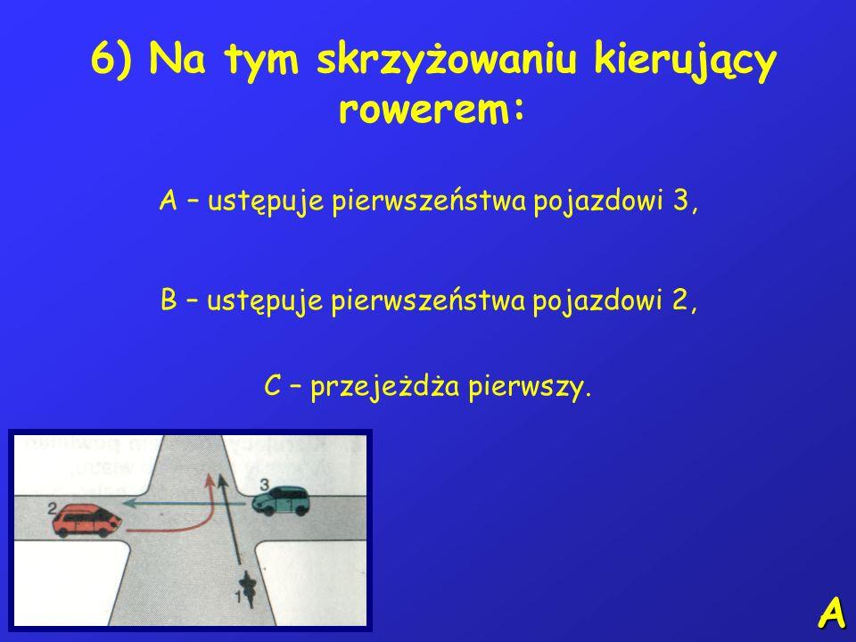 5) Który ze znaków informuje o ograniczeniu prędkości do 20 km/h: A BCB