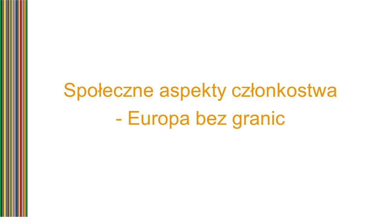 Społeczne aspekty członkostwa - Europa bez granic