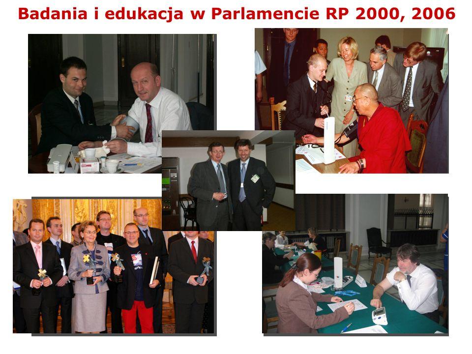 Badania i edukacja w Parlamencie RP 2000, 2006