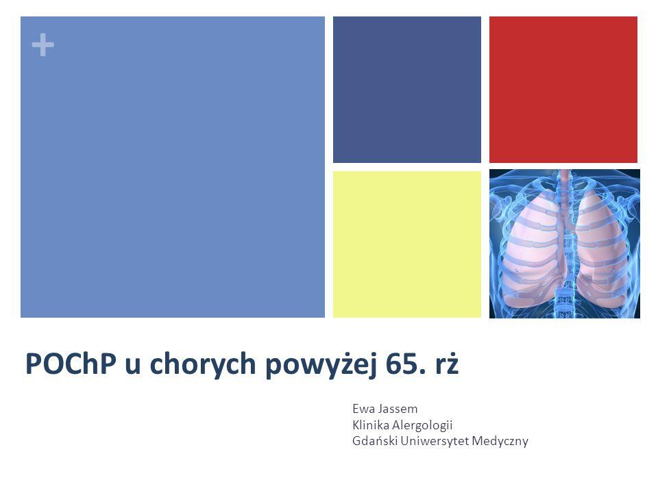 + POChP u chorych powyżej 65. rż Ewa Jassem Klinika Alergologii Gdański Uniwersytet Medyczny