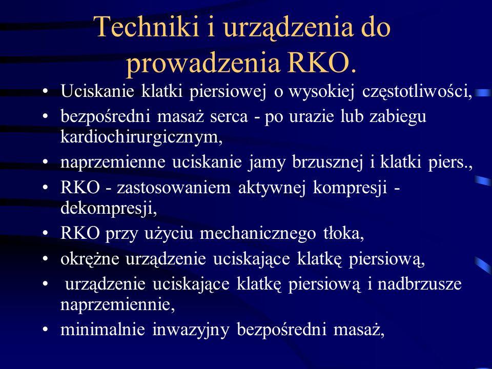 Techniki i urządzenia do prowadzenia RKO.