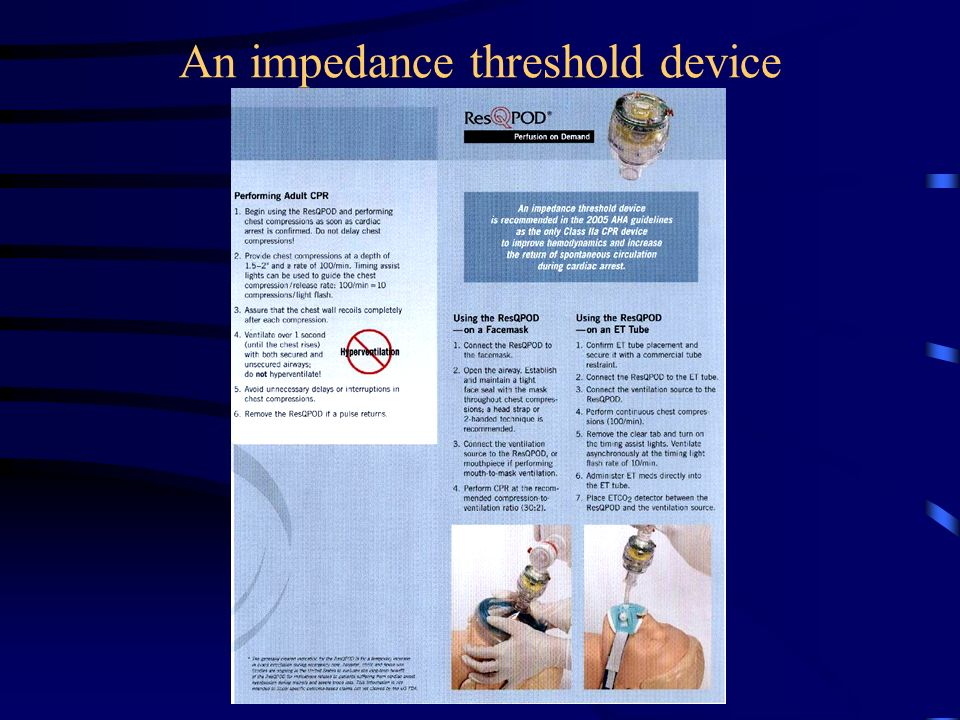 An impedance threshold device