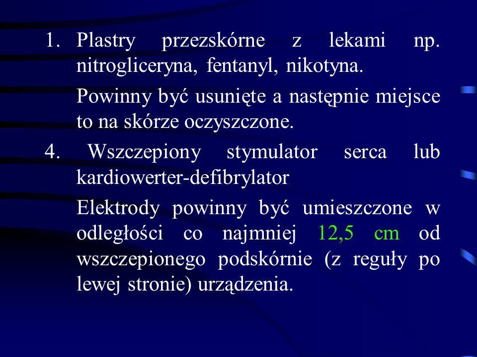 1.Plastry przezskórne z lekami np. nitrogliceryna, fentanyl, nikotyna.