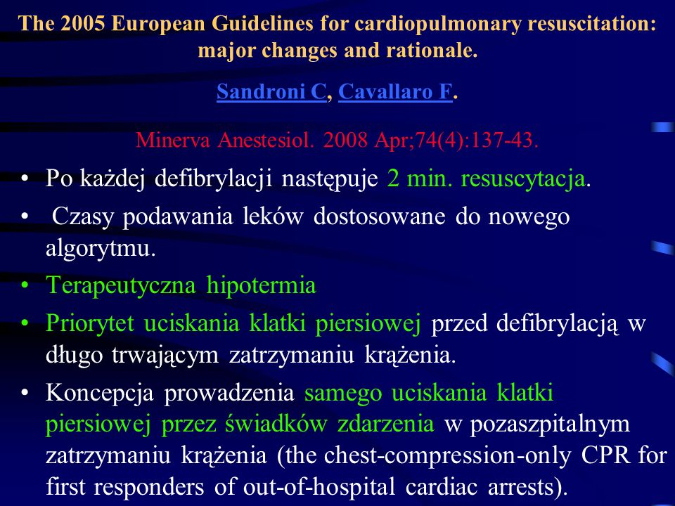 Vasopressin and epinephrine in the treatment of cardiac arrest: an experimental study Konstantinos Stroumpoulis,1 Theodoros Xanthos et all.