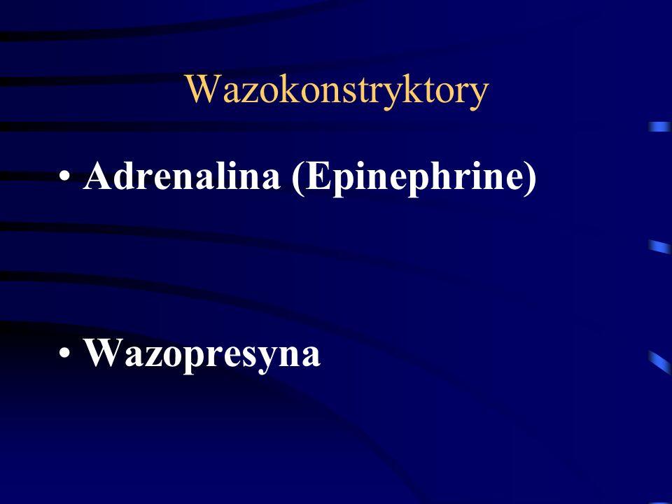 Wazokonstryktory Adrenalina (Epinephrine) Wazopresyna