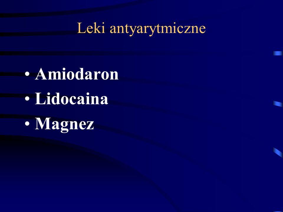 Leki antyarytmiczne Amiodaron Lidocaina Magnez