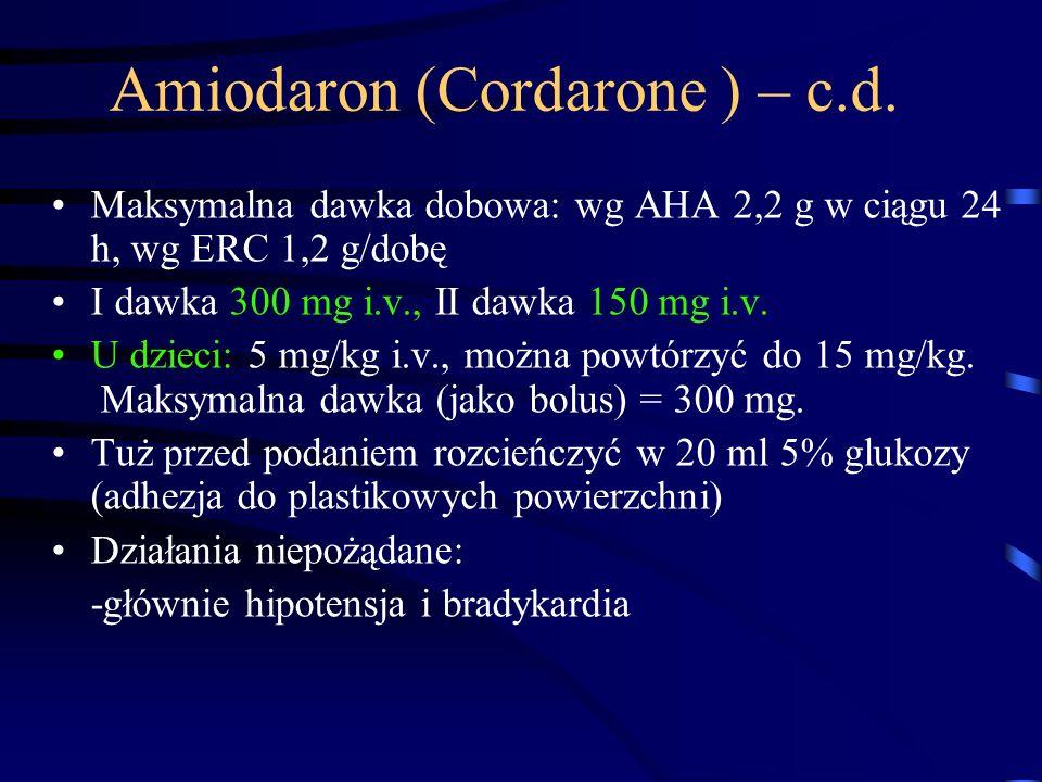 Amiodaron (Cordarone ) – c.d.