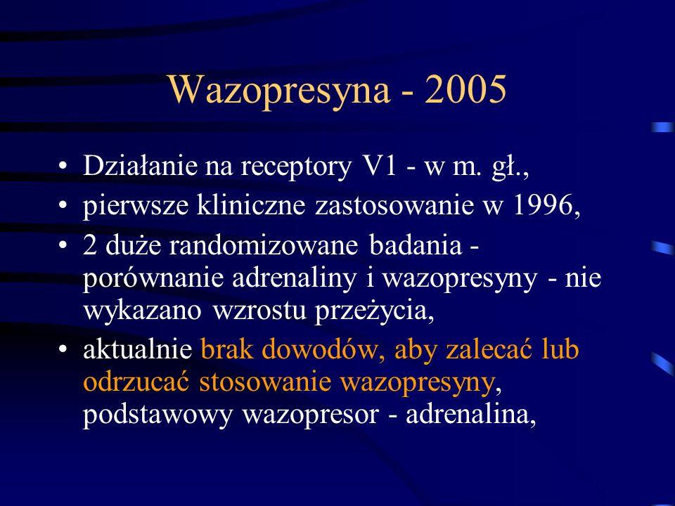 Wazopresyna - 2005 Działanie na receptory V1 - w m.