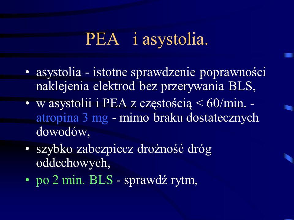 PEA i asystolia.
