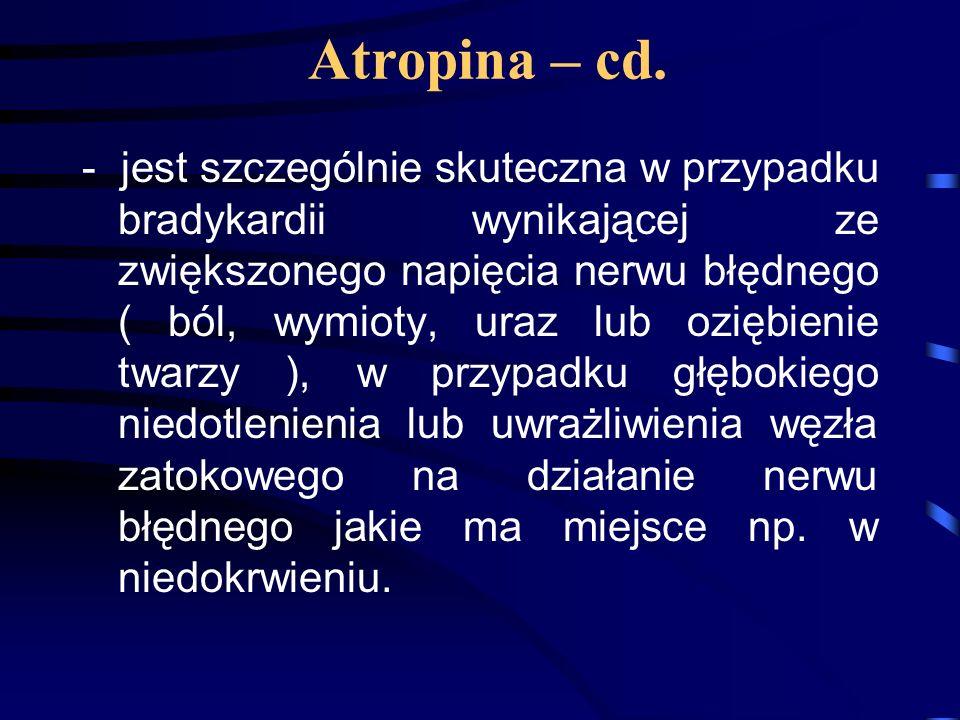 Atropina – cd.