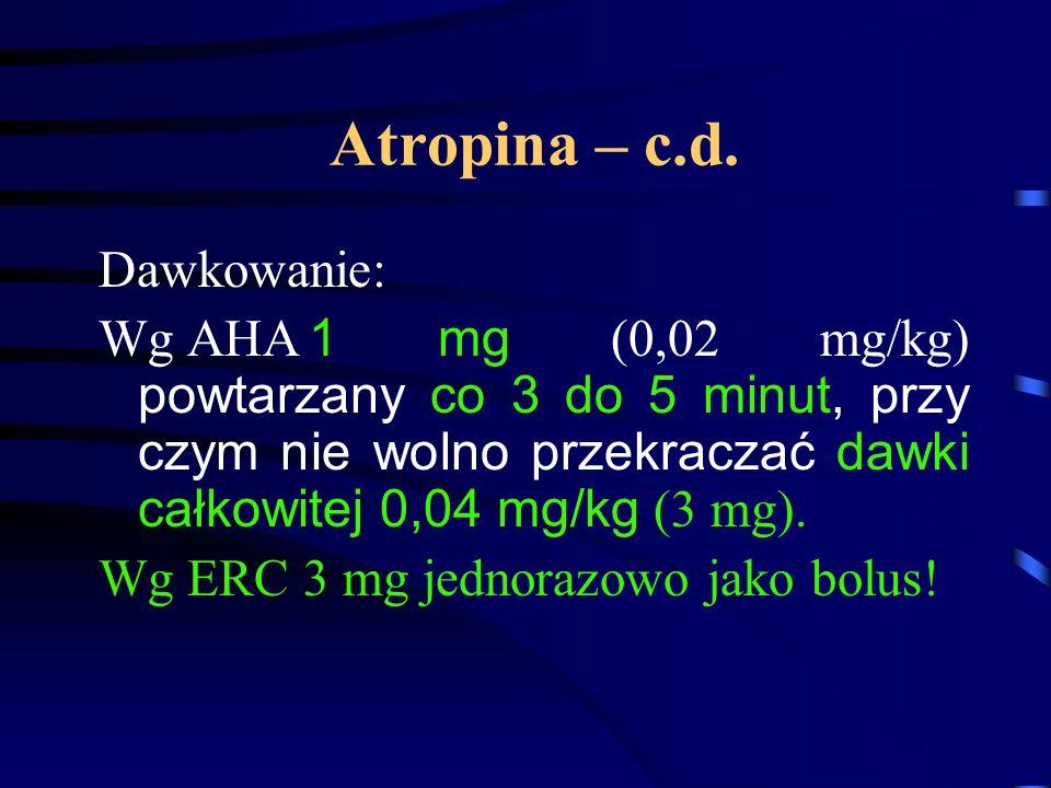 Atropina – c.d.