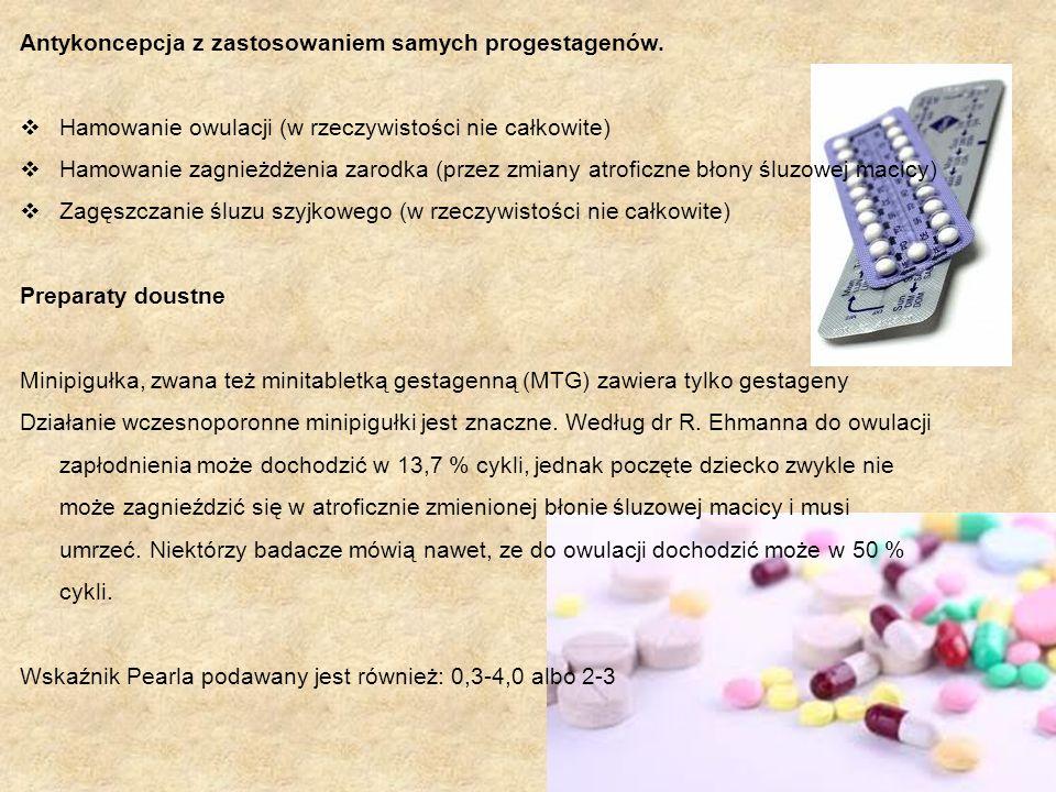 Antykoncepcja z zastosowaniem samych progestagenów.