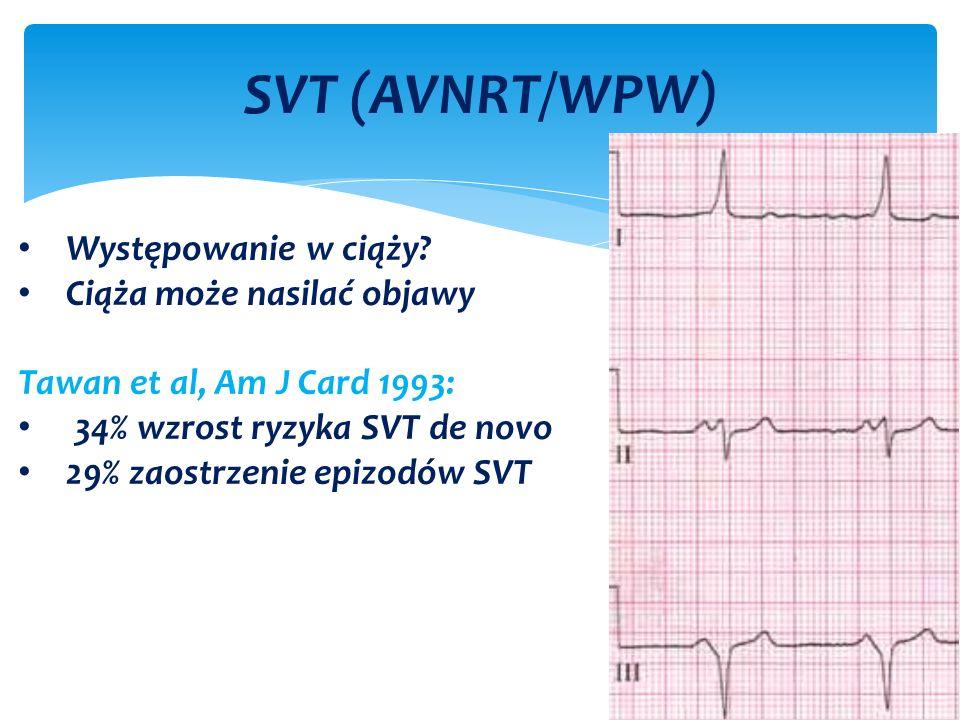 SVT (AVNRT/WPW) Występowanie w ciąży.